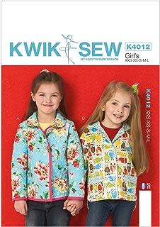KWIK-SEW PATTERNS K4012 Girls' Lined Jackets Sewing Template