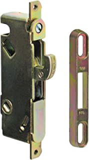 "FPL #3-45-S Sliding Glass Door Replacement Mortise Lock, 3-11/16"" Screw Holes, 45 Degree Keyway"