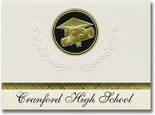 Signature Announcements Cranford High School (Cranford, NJ) Graduation Announcements, Presidential style, Elite package of...