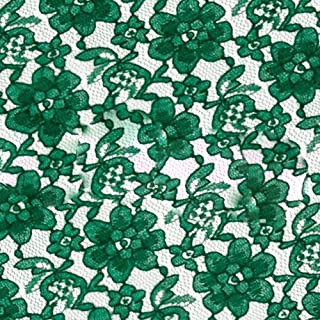 Green Raschel Lace Fabric – Sold By The Yard (FB)