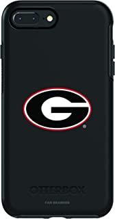 Fan Brander NCAA Black Phone case, Compatible with Apple iPhone 8 Plus and iPhone 7 Plus with OtterBox Symmetry Series