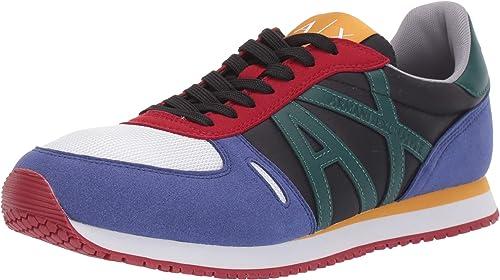 Armani exchange ax running sneaker, scarpe da ginnastica. uomo, multicolore XUX017XV028 100