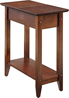 Convenience Concepts American Heritage Flip Top End Table, Espresso