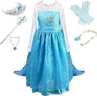 Anbelarui Girls Princess Party Cosplay Costume Long Dress up 3-9 Years