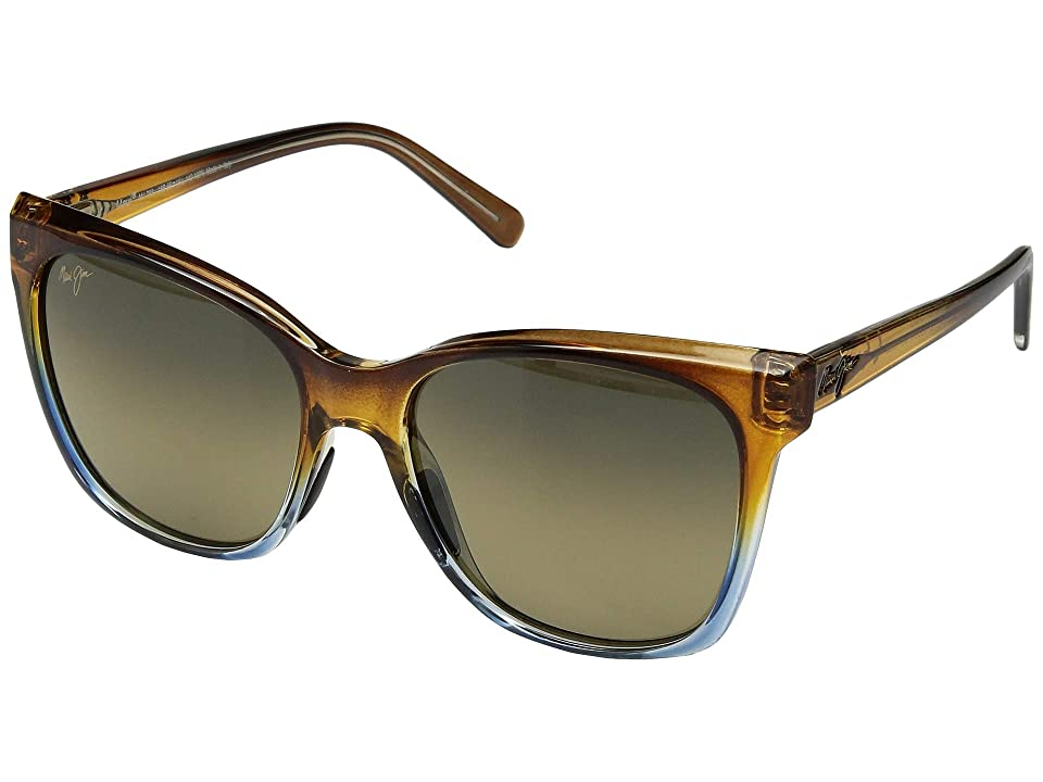 Maui Jim Alekona (Caramel/Blue/HCL Bronze) Athletic Performance Sport Sunglasses