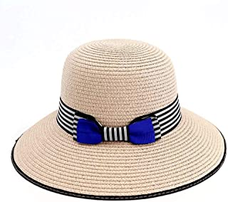 SHENTIANWEI 2019 Summer Dome Sun Hat Lady Bucket Hat Knit Travel Sun Hat Bowknot5 Color Beach Hat Ribbon