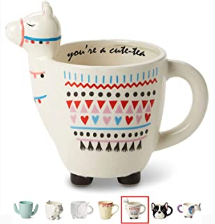 "White Ceramic Coffee or Tea Mugs: Tri-Coastal Design""You're A Cute-Tea"".."