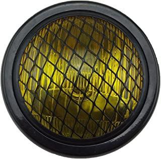 TASWK 6.5 Motorcycle Headlight w/Grille for Bobber Cafe Racer Cruiser Vintage Style (Amber Lens)