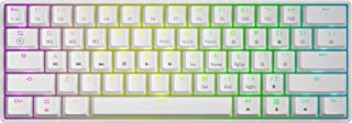 GK61 White Hot Swappable Mechanical Keyboard - 61 Keys Multi Color RGB Illuminated LED Backlit Wired Gaming Keyboard, Wate...