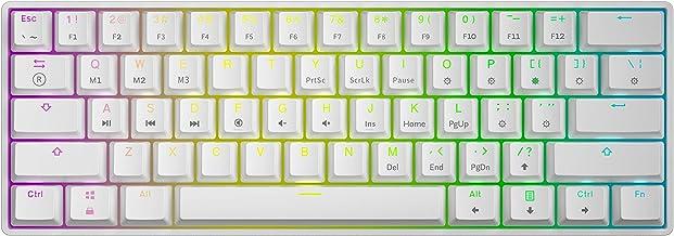Tastiera meccanica da gioco, 61 tasti multicolore rgb, retroilluminata con illuminazione a led gk61 hk gaming GK-61