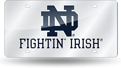 NCAA Rico Industries Laser Inlaid Metal License Plate Tag, Notre Dame Fighting Irish