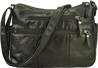 Volcanic Rock Women Crossbody Bag Pocketbooks Soft PU Leather Purses and Handbags Multi Pocket Shoulder Bag