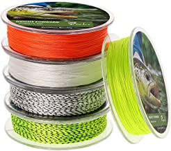 Fly Line Backing 20LB 30LB 100 Yds for Trout Fishing (Orange White Fluorescent Yellow)-2PCS