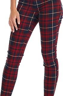 Suko Jeans Women's Plaid Skinny Jean Tartan Pants Power Stretch Denim