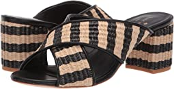 Natural/Black Raffia