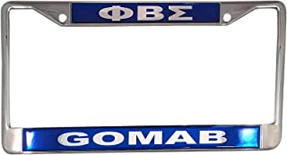 Desert Cactus Phi Beta Sigma Metal License Plate Frame for Front Back of Car Sigma (Metal - Call Tag)