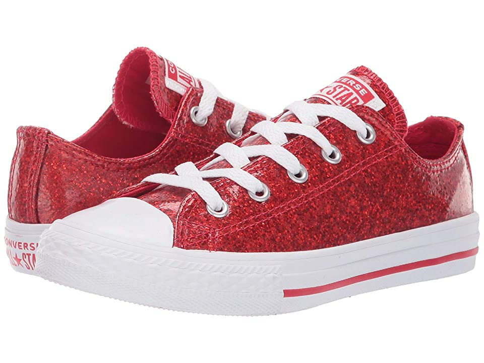 Converse Kids Chuck Taylor All Star Party Dress Ox (Little Kid/Big Kid) (Cherry Red/White/White) Girl