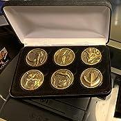 Lot of 6 Black Felt COIN DISPLAY GIFT METAL BOX for 1-Quarter or Presidential $1