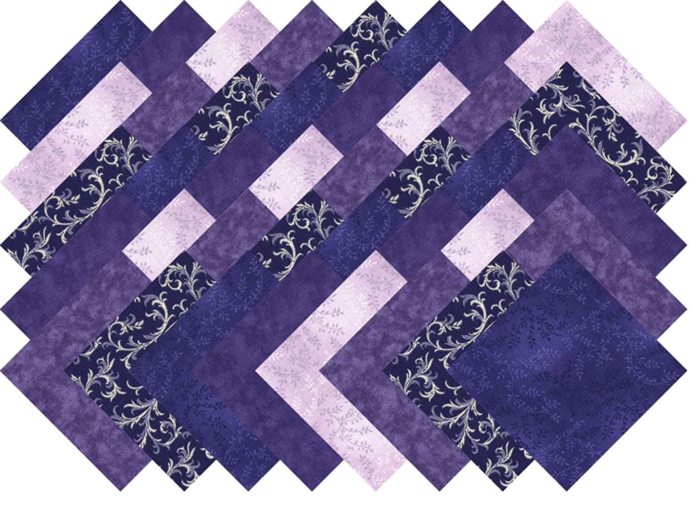 Purple Variety Charm Pack 40 Precut 5-inch Quilting Fabric Squares