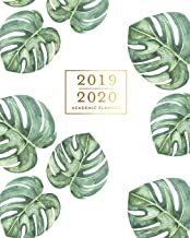2019-2020 Academic Planner: Tropical Leaves Monstera Watercolor Green & Gold Weekly & Monthly Dated Calendar Organizer with To-Do's, Checklists, Notes and Goal Setting Pages
