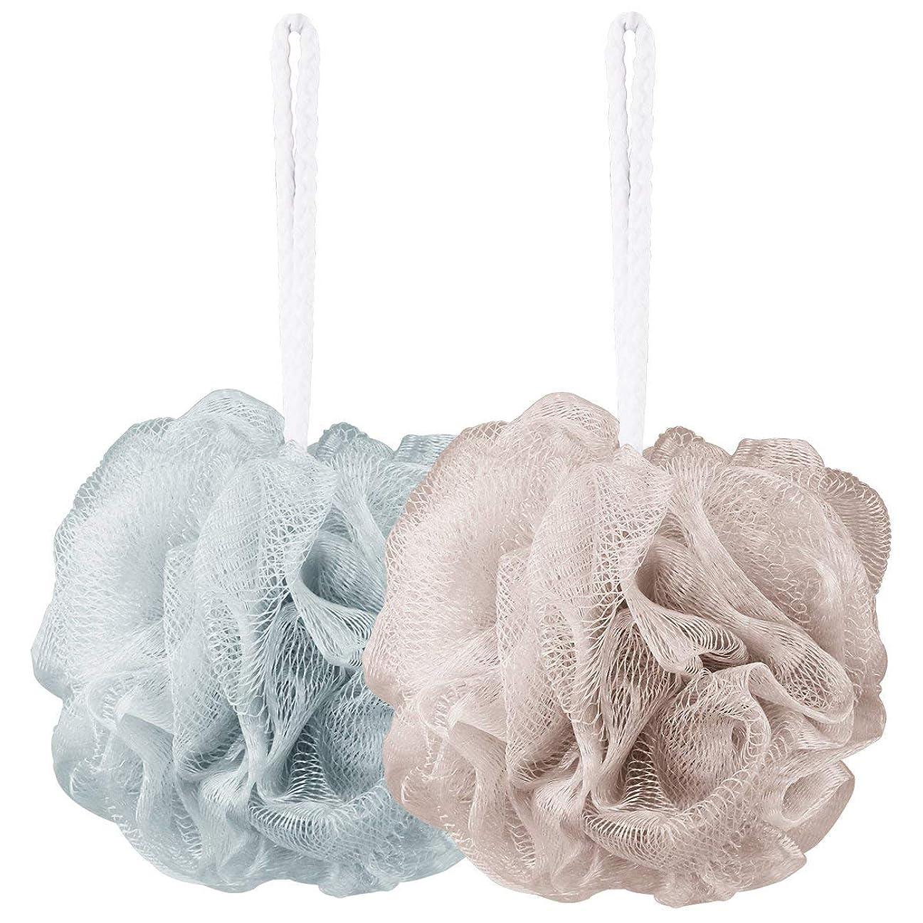 あいにく使い込むひまわり2点セット ボディ用お風呂ボール 花形 タオル 泡立てネット 超柔軟 シャワー用