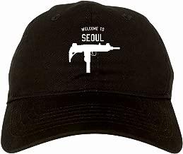Welcome To Seoul Uzi Machine Gun City 6 Panel Dad Hat Cap