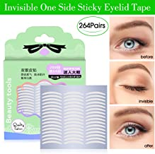 528Pcs/264Pairs Slim Natural Invisible One Side Sticky Double Eyelid Tapes Stickers, Instant Eyelid Lift Without Surgery, Perfect for Hooded, Droopy, Uneven, or Mono-eyelids
