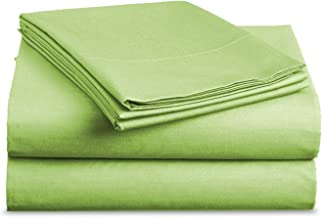 Luxe Bedding Sets - Microfiber King Size Sheets Set 4 Piece, Pillow Cases, Deep Pocket Fitted Sheet, Flat Sheet Set King - Lime