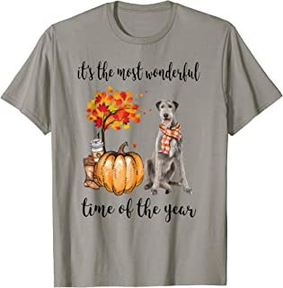 It's The Most Wonderful Time Of The Year Irish Wolfhound T-Shirt