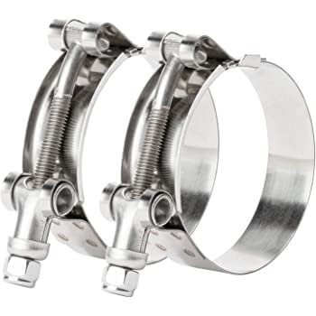 and Nut Bolt 1-5//32 to 1-15//32 Kuriyama TBC-SS031 Heavy Duty T-Bolt Hose Clamp 304 Stainless Steel  Band