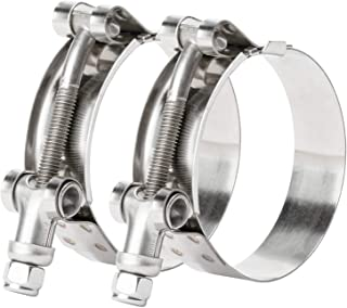 48mm-56mm Marine 316 Stainless Steel T-Bolt Hose Clamp 1-5//8 41mm Hose ID 4x HPS 1.89-2.2