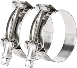 ISPINNER 2 Pack 1.5 inch 44-50mm Stainless Steel T-Bolt Hose Clamps for 1.5