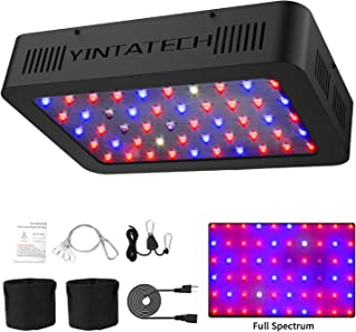 300W LED Grow Light, Growing Lamp Full Spectrum for Indoor Hydroponic Greenhouse Plants Veg and Flower with Double Switch & Dual Chip, Daisy Chain, UV & IR, Adjustable Rope Hanger (60pcs 10W LEDs)