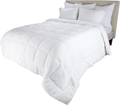 Bluestone Reversible Oversized Down Alt Comforter with Sherpa-King