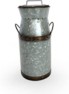 Barnyard Designs Rustic Galvanized Tin Milk Can, Jug | Vintage Rusty Distressed Farmhouse Vase, Country Primitive Home Decor, 11.75