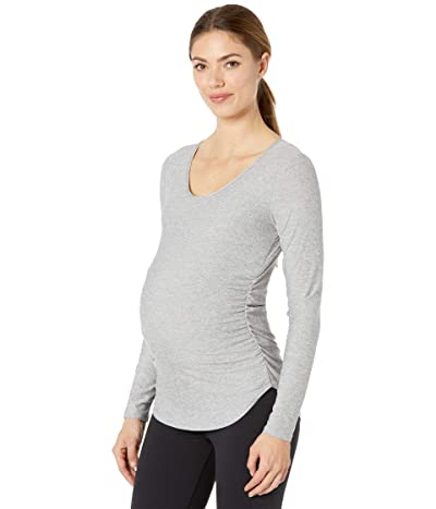 Beyond Yoga Maternity Cut and Run Pullover (Silver Mist) Women