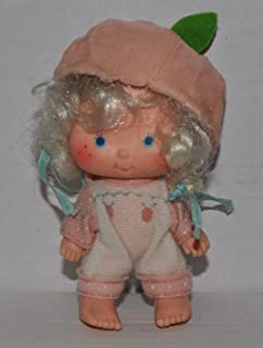 Vintage Apricot (1979) Straight Hands (Doll, Hat, Outfit, & Blue Hair Ribbons) - Strawberry Shortcake (Retired) Doll - Collectible Replacement Toy - Loose (OOP Out of Package & Print)