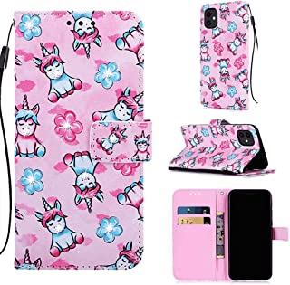 Leather Cover Compatible with Samsung Galaxy A50, unicorn2 Wallet Case for Samsung Galaxy A50