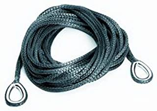 WARN 69069 ATV Synthetic Winch Cable Rope Extension with Loop Ends: 1/4' Diameter x 50' Length, 2 Ton (4,000 lb) Capacity
