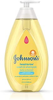 Johnson's Head-To-Toe Gentle Baby Wash & Shampoo, Tear-Free, Sulfate-Free &..