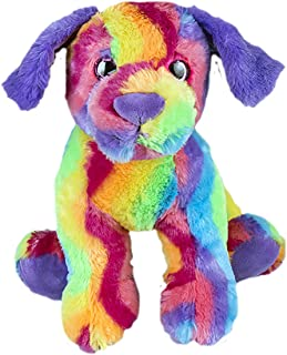 Cuddly Soft 8 inch Stuffed Rainbow Dog...We stuff 'em...you love 'em!
