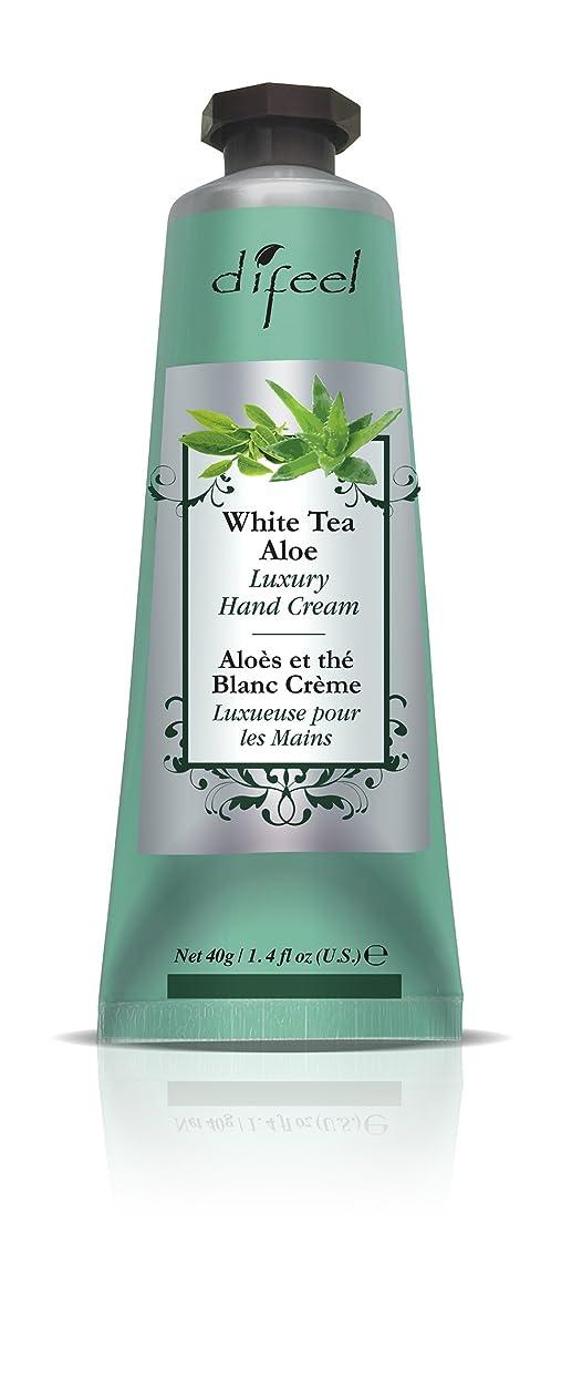 高層ビル歌う過剰Difeel(ディフィール) ホワイトティー&アロエ ナチュラル ハンドクリーム 40g WHITE TEA&ALOE 07WTAn New York