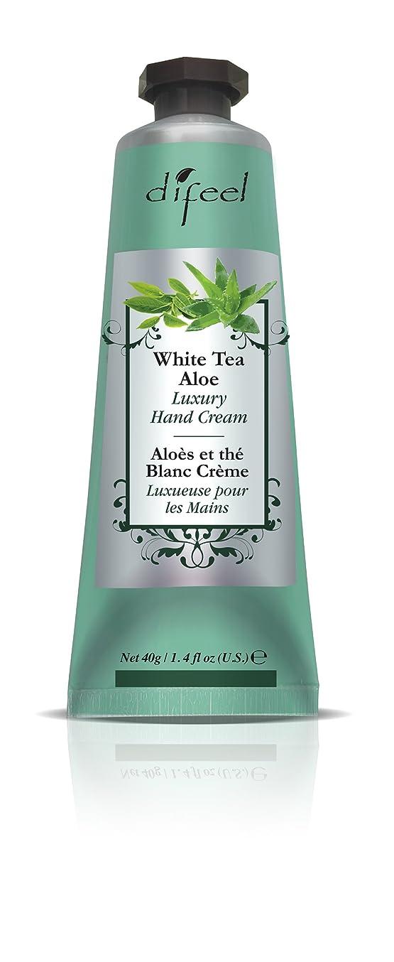 超えるお母さんアクセスできないDifeel(ディフィール) ホワイトティー&アロエ ナチュラル ハンドクリーム 40g WHITE TEA&ALOE 07WTAn New York