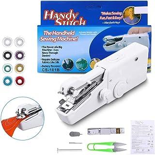 Mini Handheld Sewing Machine, LIUMY 15Pcs Portable Sewing Machine, Mini Cordless Handheld Electric Stitch Tool for Fabric,...