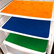 KHUSHI CREATION PVC Fridge Drawer/Dining Table Mat (11x17-Inches, Multicolour) -Set of 3 Pieces