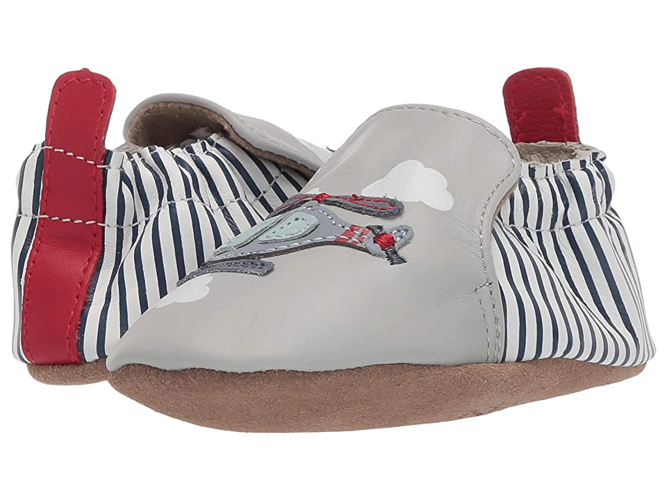 Robeez Helicopter Soft Sole (Infant/Toddler) (Light Grey) Boy