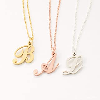 Minimalist Initial Necklace Dainty Initial Jewelry Tiny Letter Necklace by Caitlyn Minimalist