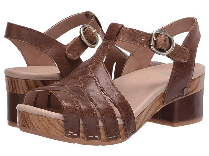 Vintage Sandals | Wedges, Espadrilles – 30s, 40s, 50s, 60s, 70s Dansko Mara Taupe Burnished Calf Womens Shoes $97.99 AT vintagedancer.com