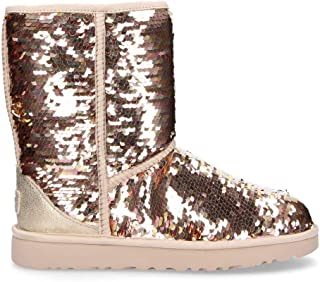 UGG Women's 1094982G Gold Sequins Ankle Boots