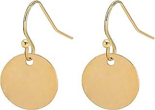 Gold Ring Earrings with 7 small rings Gold Dangle Earrings Gold hoop Earrings Gold Earrings Circle Earrings  Sandycraft Drop Earring